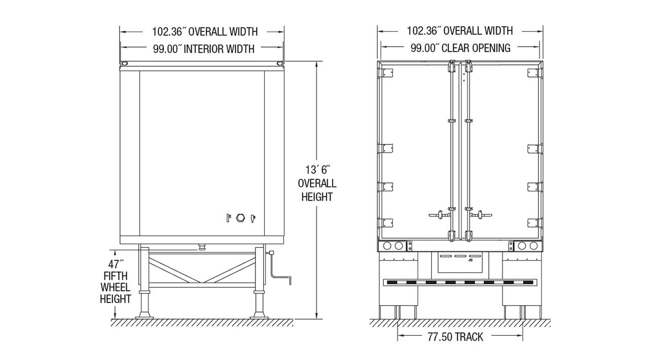 Hy-Cube Dry Van Trailer - Kingpin Trailers LTD. | Hyundai Translead Wiring Diagram |  | Kingpin Trailers LTD