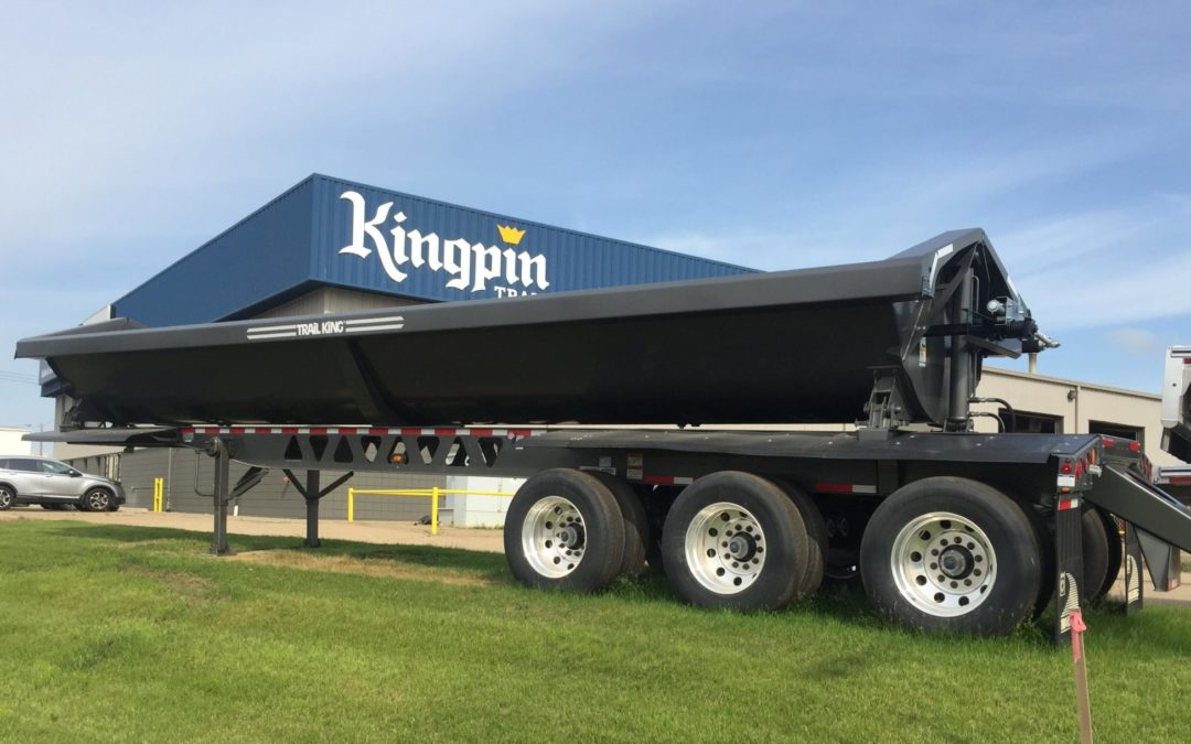 Side Dump Trailers Available At Kingpin Trailers